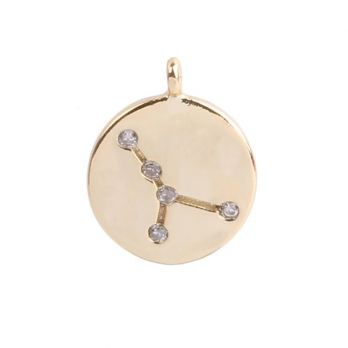 Gold Plated Cancer Constellation Zodiac Charm 11mm Pk1