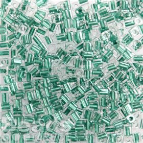 Miyuki Cube Beads 4mm Colour Lined Metallic Teal 10g