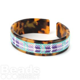 Beads Direct Spring Meadow Toho Aiko Tortoise Slim Cuff Kit