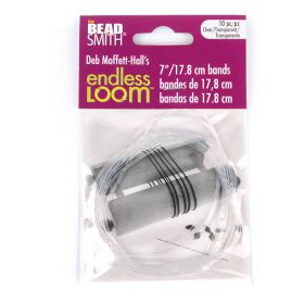 Endless Loom Clear Bands for Endless Loom Tool 7inch Pk10