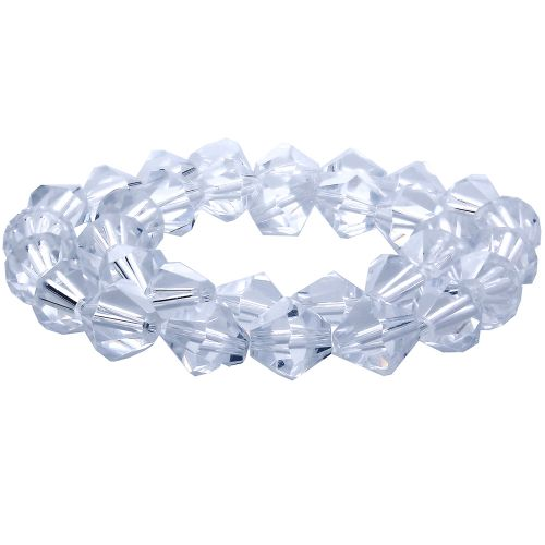 CrystaLove™ crystals / glass / bicone / 3mm / Crystal / 148pcs
