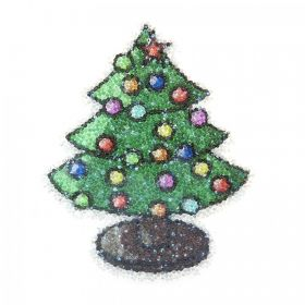 Swarovski Crystal Fabric-IT Xmas Tree Transfer Self Adhesive Pk1