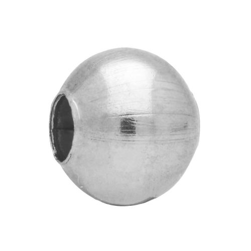 Seamless rounds / surgical steel / 4mm / silver / 40pcs