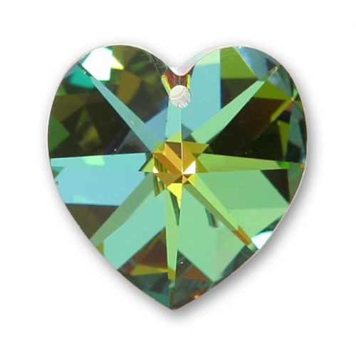 6228 Swarovski Crystal Heart 17.5x18mm Vitrial Medium Pk1
