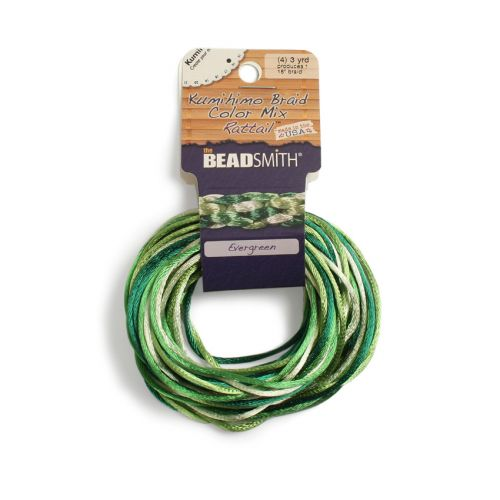 X-Rattail Evergreen 2mm 4 Colours 4x3yds