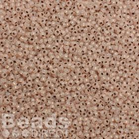 Toho Size 11 Round Seed Beads Copper-Lined Alabaster 10g