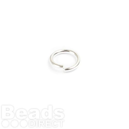Silver Plated Iron Jumprings 6mm 0.8mm Thick Pk100