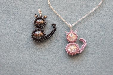 How to make a beaded cat - A jewellery making tutorial