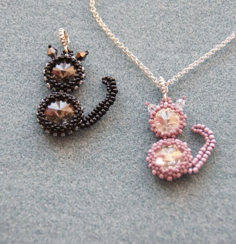 How to make a beaded cat. A jewellery making tutorial