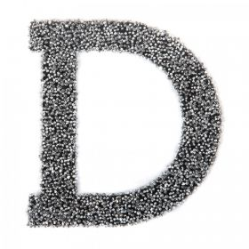 Swarovski Crystal Letter 'D' Self-Adhesive Fabric-It Black CAL Pk1