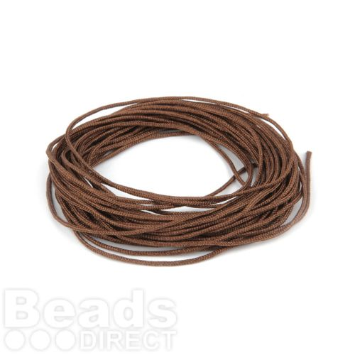 Satin Cord 0.7mm Brown 5m