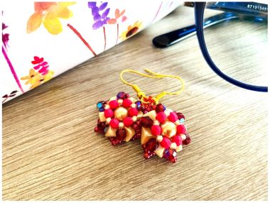 Super Kheops Flower Earrings - Jewellery Making Tutorial