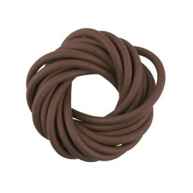 Leather / natural / round / 3mm / brown / 2m