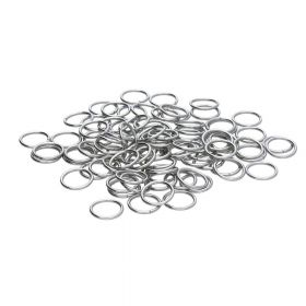 Jump rings / surgical steel / 10mm / silver / wire 1.2mm / 20pcs