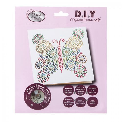 Beads Direct Butterfly Multicolur Crystal Card Kit