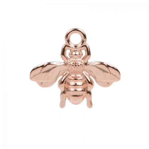 Rose Gold Plated Zamak Bee Charm 22x20mm Pk 1