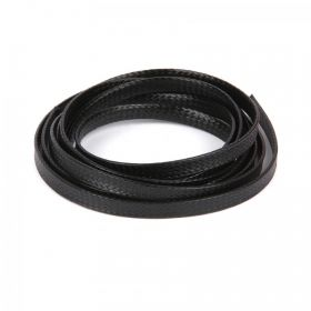 Black Flat 4mm Woven Cord 1 Metre Length