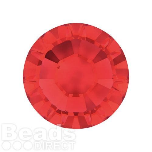 2078 Swarovski Crystal Hotfix Round 7mm SS34 Light Siam A HF Pk144