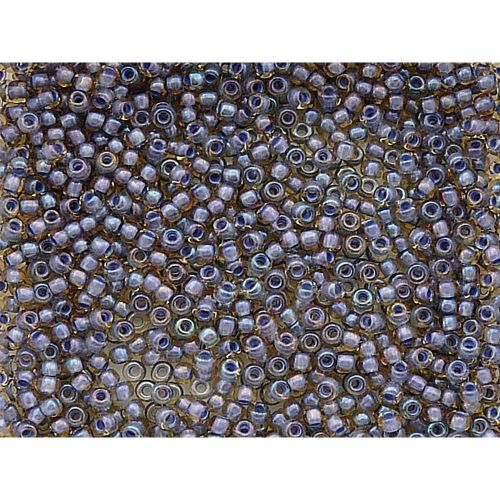 TOHO™ / Round 8/0 / Inside-colour Lt Topaz / Opaque Lavender Lined / 10g / ~ 300pcs