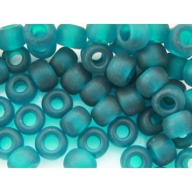 TOHO™ / Round  3/0 / Transparent Frosted / Teal / 10g ~ 60pcs