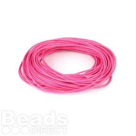 Shiny Coated Braiding Cord 1mm Fuchsia 10m