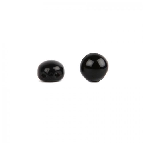 Preciosa Pressed Small Candy Twin Hole Bead Jet 6mm Pk30