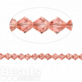 5328 Swarovski Crystal Bicones Xillion 4mm Rose Peach Pk24
