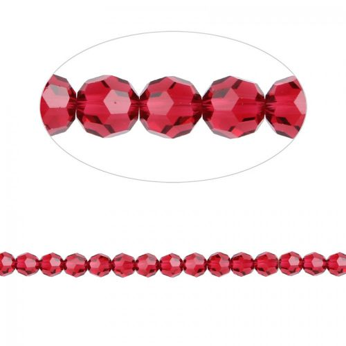 5000 Swarovski Crystal Faceted Round Beads 6mm Scarlet Pk12