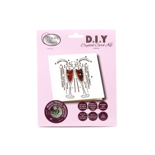 X-Beads Direct Champagne Glass Crystal Card Kit