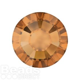 2078 Swarovski Crystal Hotfix Round 7mm SS34 Crystal Copper A HF Pk144