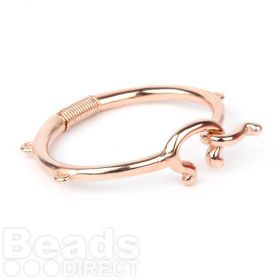 Rose Gold Plated Zamak Bangle Base with Hook/Coil/4 Loops 68mm Pk1