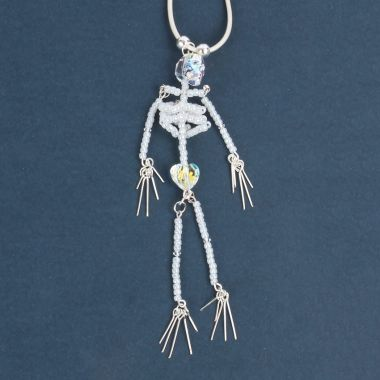 Crystal Skeleton Pendant