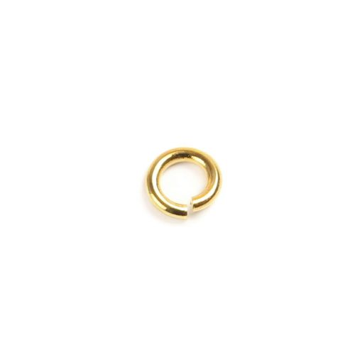 Gold Plated Brass Jumprings 5mm Pk20