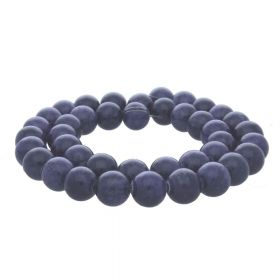 Jade / round / 12mm / purple-grey / 34pcs