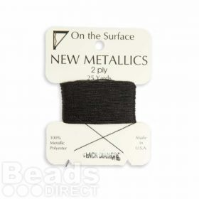 Metallic Thread for Kumihimo Braiding 25yds Black Diamond