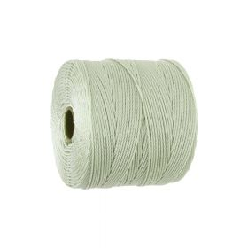 BEADSMITH ™ / thread SuperLon Fine / nylon / Tex 135 / Pearl / 0.5mm / 108m