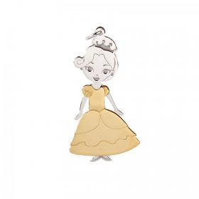 Sterling Silver 925/Gold Plated 'Princess Buttercup' Charm 16x32mm Pk1