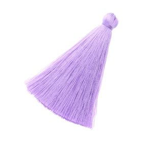 Tassel / viscose thread / 70mm / width 10mm / bright lavender / 1pcs