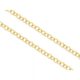 Rolo chain / 3.8mm / 0.6mm wire / gold / 1m