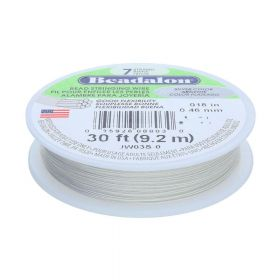 Beadalon ™ / flexible jewellery wire / 7 strand / 0.46mm / Light silver / 9.2m