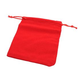 Velvet bag / 10x12cm / red / 5pcs
