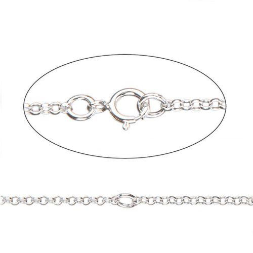X Sterling Silver 925 Connector Chain Necklace with Clasp Adjustable 35-41cm