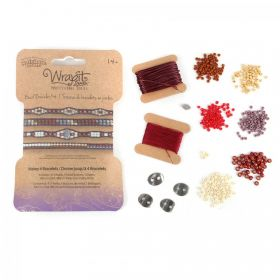WrapIt Loom Autumn Bead Bracelet Refill Kit - Makes 4 Bracelets
