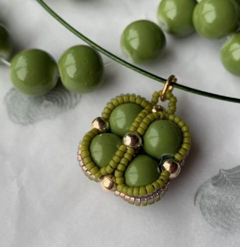 Lucky Four Leaf Clover Pendant  - Jewellery Making Tutorial