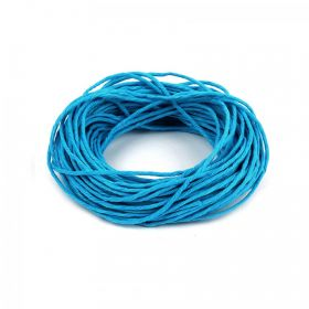 Turquoise Hemp Semi Waxed Braiding Cord 1.5mm 10metre