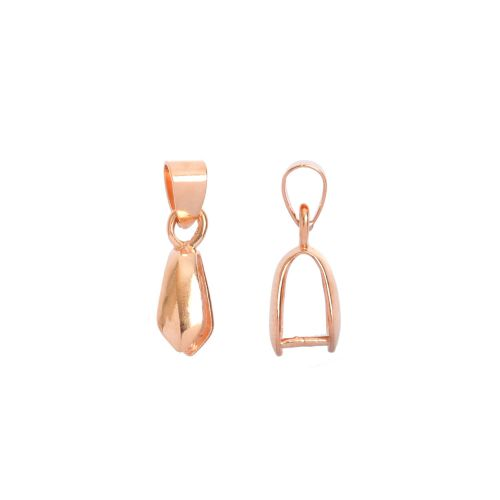 Rose Gold Plated Pinch Bail with Loop For Large Pendant 5x11mm Pk1