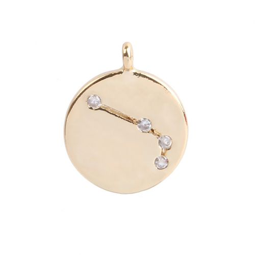 Gold Plated Aries Constellation Zodiac Charm 11mm Pk1