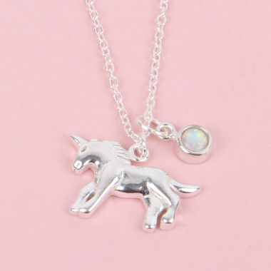 Snow Unicorn Necklace