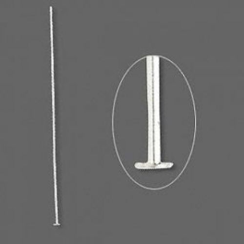 X Sterling Silver 925 Headpins 0.4x50mm Pk10