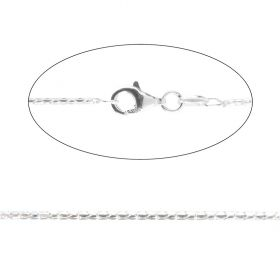 Sterling Silver 925 Fancy Snake Chain 1.5mm with Clasp 76cm